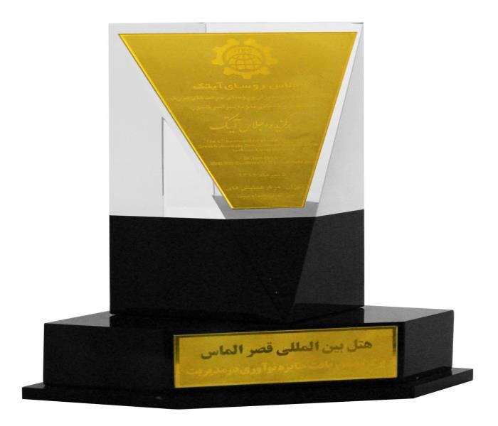 برگزیده دریافت جایزه نوآوری در مدیریت اجلاس روسای آیتک تهران 1392